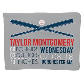 Baseball Baby Blanket - Birth Announcement