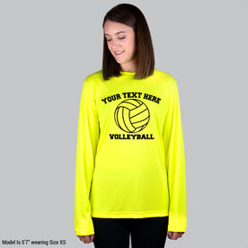 Volleyball Long Sleeve Performance Tee - Custom Volleyball