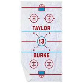 Hockey Premium Beach Towel - Personalized Ice Rink
