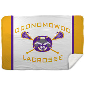 Guys Lacrosse Sherpa Fleece Blanket - Oconomowoc Lacrosse Logo