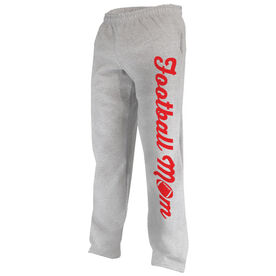 Football Fleece Sweatpants Football Mom with Football