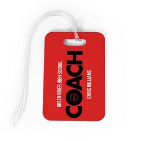 Wrestling Bag/Luggage Tag - Personalized Coach