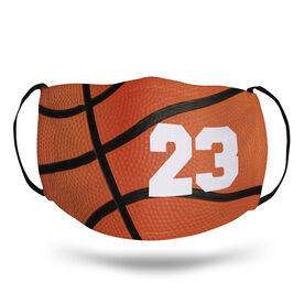 Basketball Face Mask - Personalized Basketball Texture