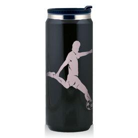 Stainless Steel Travel Mug Soccer Player Guy Silhouette