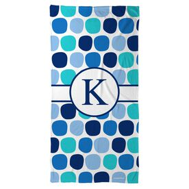 Swimming Beach Towel Personalized Colorful Polka Dots