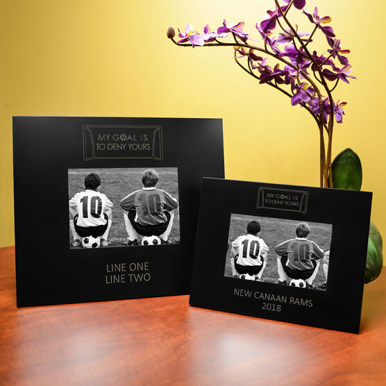 Soccer Engraved Picture Frame - My Goal Is To Deny Yours (Goalie)
