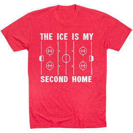 Hockey Tshirt Short Sleeve The Ice Is My Second Home