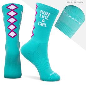 Socrates® Mid-Calf Performance Socks - Run Like a Girl
