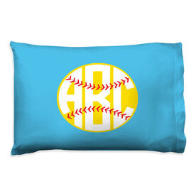 Softball Pillowcase - Monogrammed