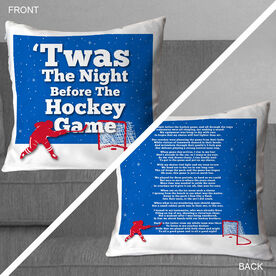 Hockey Throw Pillow Twas The Night Before The Hockey Game