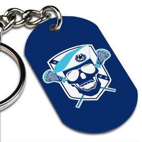 Lacrosse Printed Dog Tag Keychain Death Match Lacrosse