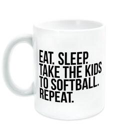 Softball Coffee Mug - Eat Sleep Take The Kids To Softball