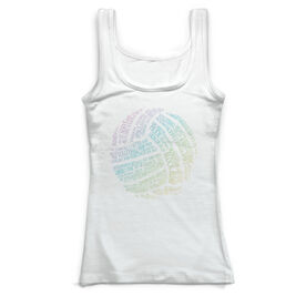 Volleyball Vintage Fitted Tank Top - Words