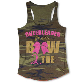 Cheerleading Camouflage Racerback Tank Top - Cheerleader From Bow 2 Toe