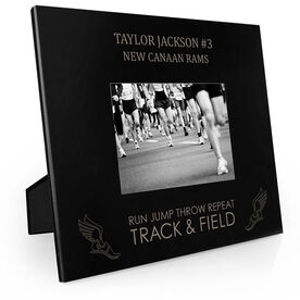 Track & Field Engraved Picture Frame - Run Jump Throw Repeat