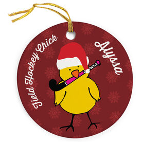Field Hockey Porcelain Ornament Field Hockey Chick