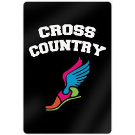 "Cross Country Aluminum Room Sign (18""x12"") Cross Country Winged Foot"