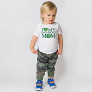 Field Hockey Baby T-Shirt - I Love My Field Hockey Mom
