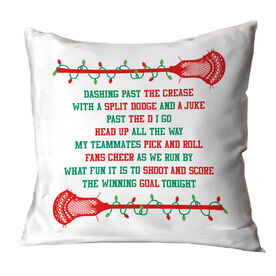 Guys Lacrosse Throw Pillow - Jingle All The Way