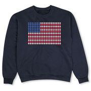 Baseball Crew Neck Sweatshirt - Patriotic Baseball