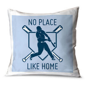 Baseball Throw Pillow No Place Like Home