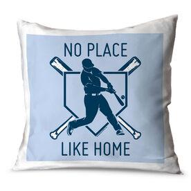 Baseball Throw Pillow No Place Like Home