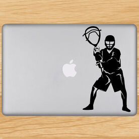 Lacrosse Removable Laptop Decal Goalie Silhouette
