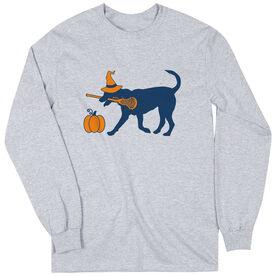 Girls Lacrosse Long Sleeve T-Shirt - Lula Witch Dog