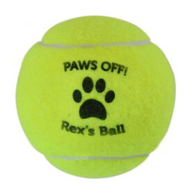 Personalized Paws Off! Tennis Ball