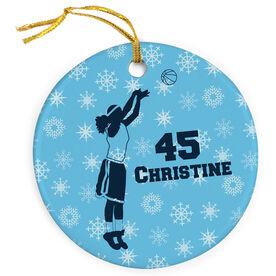 Basketball Porcelain Ornament Personalized Basketball Girl