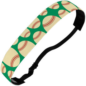 Baseball Julibands No-Slip Headbands - Tossed Ball Pattern