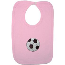 Baby Bib with Soccer Embellishment