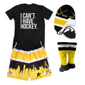 Boston Pride Hockey Outfit