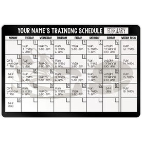 "Running 18"" X 12"" Wall Art - Personalized Dry Erase Training Calendar"