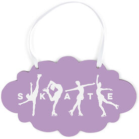 Figure Skating Cloud Sign - Skate With Silhouettes