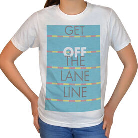 Vintage Swimming T-Shirt - Get Off The Lane Line