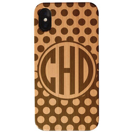 Personalized Engraved Wood IPhone® Case - Monogram With Dots