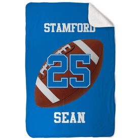 Football Sherpa Fleece Blanket Personalized Team