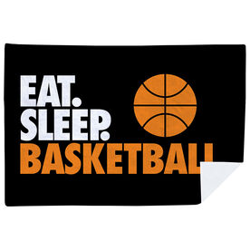 Basketball Premium Blanket - Eat. Sleep. Basketball. Horizontal