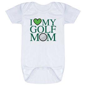 Golf Baby One-Piece - I Love My Golf Mom
