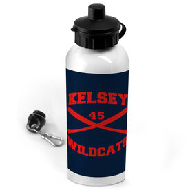 Softball 20 oz. Stainless Steel Water Bottle Personalized Softball Crossed Bats