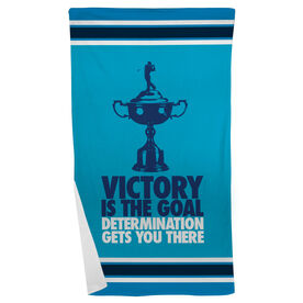Golf Beach Towel Victory Is The Goal (Male)