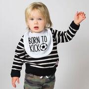 Soccer Baby Bib - Born To Kick