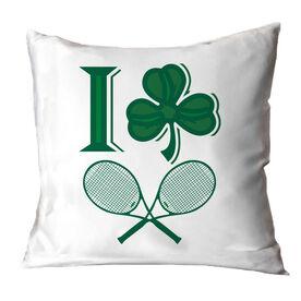 Tennis Throw Pillow I Shamrock Tennis