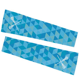 Girls Lacrosse Printed Arm Sleeves - Triangles with Lacrosse Sticks