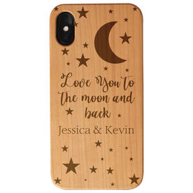 Personalized Engraved Wood IPhone® Case - Love You To The Moon And Back