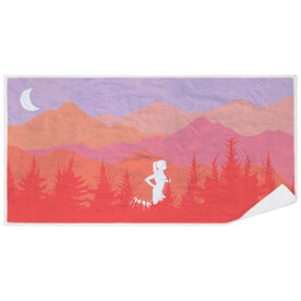 Running Premium Beach Towel - Mountain Call Female