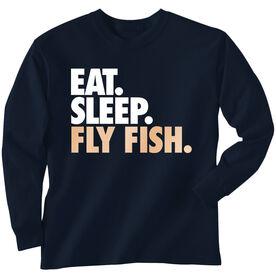 Fly Fishing T-Shirt Long Sleeve Eat. Sleep. Fly Fish.