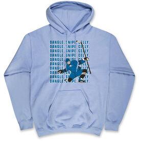 Hockey Hooded Sweatshirt - Dangle Snipe Celly Player