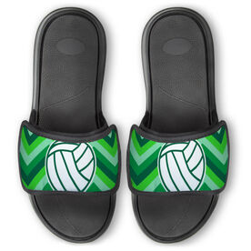 Volleyball Repwell® Slide Sandals - Volleyball With Chevron